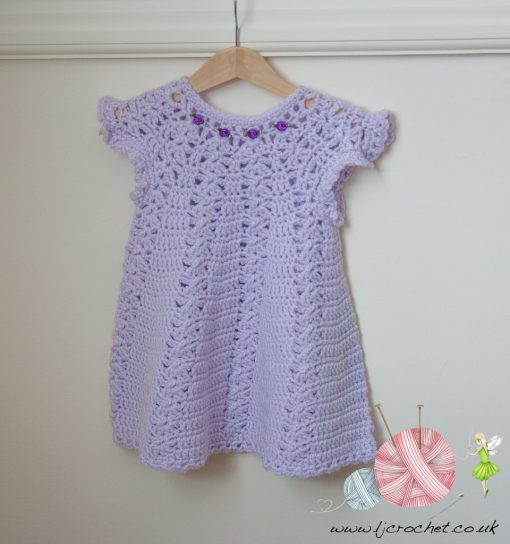 Crochet Baby Lavender Dress