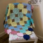 Multi Coloured Crochet Blanket