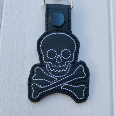 Skull Cross Bones Key Ring
