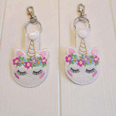 Unicorn Face Key Ring