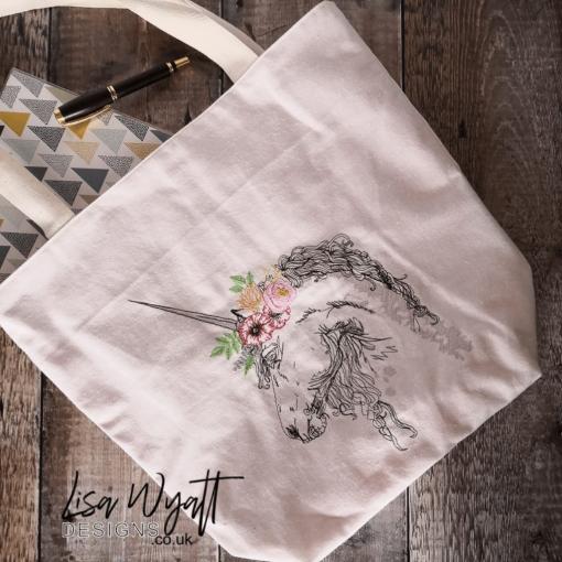 Unicorn Sketch Tote Bag