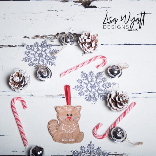 Gingerbread Cat Christmas Decoration