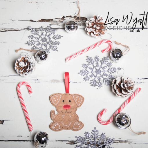 Gingerbread Dog Christmas Decoration