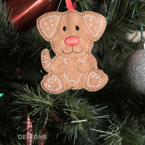 Gingerbread Dog Hanging Christmas Decoration