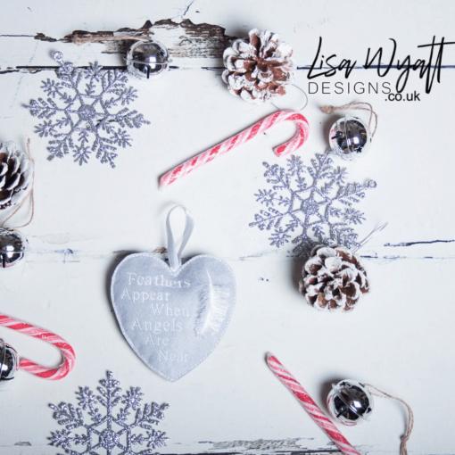 Memorial Heart Christmas Decoration.