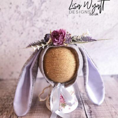 Iris Newborn Flower Bunny Bonnet
