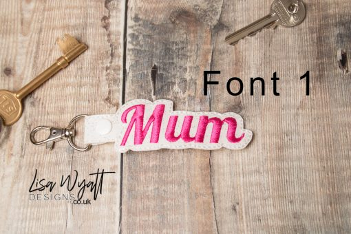 Mum Keyring by Lisa Wyatt Designs