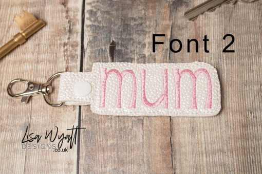 Font 2 for Mum Keyring by Lisa Wyatt Designs