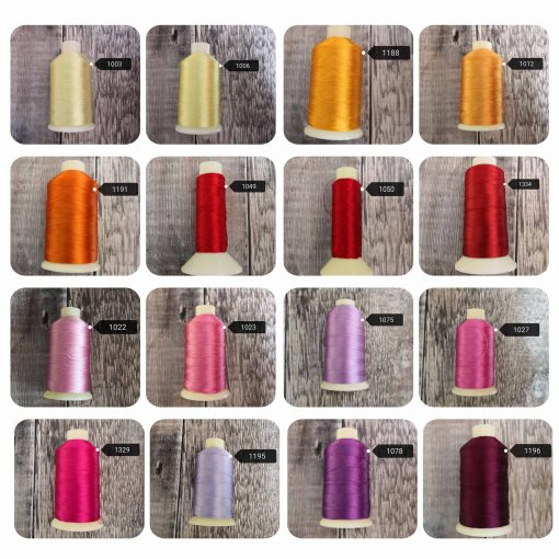 Thread Colour Choices at Lisa Wyatt Designs