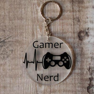 Gamer Nerd Keyring