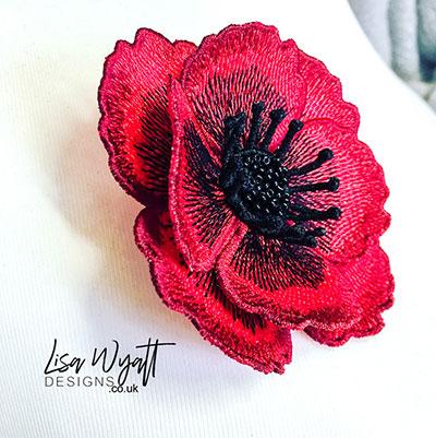Jewellery Category - Poppy Brooch