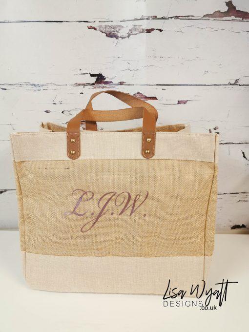 Large Luxury Tote Bag Personalised