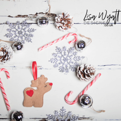 Gingerbread Reindeer Christmas Decoration