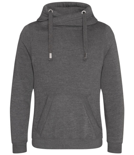 Charcoal Cowl Neck Hoodie
