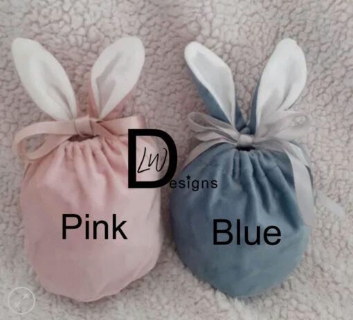 Velvet Bunny Ears Pouch Colours