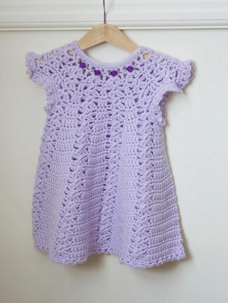 Lavender Crochet Baby Dress Homepage