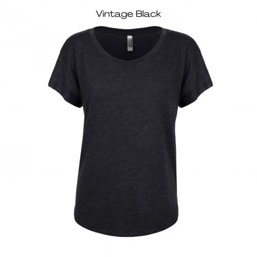 Vintage Black Colour Option for Wax Queen T-Shirt