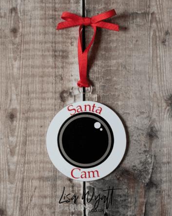 Santa Camera Bauble Homepage