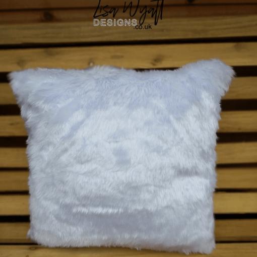 White Fluffy Cushion Back